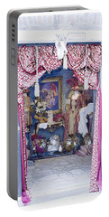 Portable Battery Charger featuring the digital art Carnevale Shop In Venice Italy by Victoria Harrington