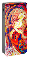 Carnival Girl Portable Battery Charger by Danielle R T Haney