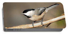 Carolina Chickadee  Portable Battery Charger by Kerri Farley