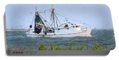 Carolina Girls Shrimp Boat Portable Battery Charger
