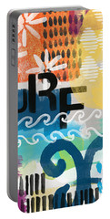 Carousel #7 Surf - Contemporary Abstract Art Portable Battery Charger