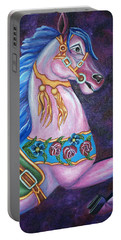 Carousel Horse Portable Battery Charger by Michelle Joseph-Long