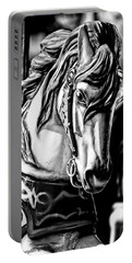 Carousel Horse Two - Bw Portable Battery Charger