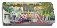 Carousel In Montmartre Paris Portable Battery Charger