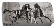 Carriage Horses For The King Portable Battery Charger