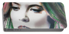 Portable Battery Charger featuring the digital art Carrie  by Kim Prowse