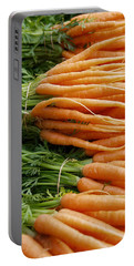 Portable Battery Charger featuring the digital art Carrots by Ron Harpham