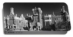 Casa Loma In Toronto In Black And White Portable Battery Charger