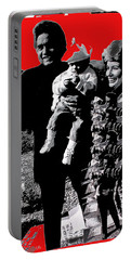 Portable Battery Charger featuring the photograph Cash Family In Red Old Tucson Arizona 1971-2008 by David Lee Guss