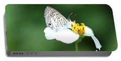 Portable Battery Charger featuring the photograph Cassius Blue On Wildflower by Greg Allore