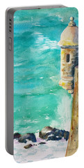 Castillo De San Cristobal Ocean Sentry  Portable Battery Charger by Carlin Blahnik