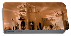 Portable Battery Charger featuring the photograph Castle By The Road by Rodney Lee Williams