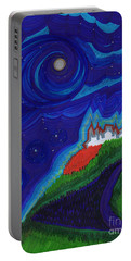 Castle On The Cliff By Jrr Portable Battery Charger