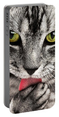 Portable Battery Charger featuring the photograph Cat by Paul Fearn