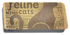 Cat Typography Portable Battery Charger