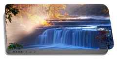 Cataract Falls Indiana Portable Battery Charger by Randall Branham