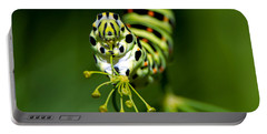 Caterpillar Of The Old World Swallowtail Portable Battery Charger by Torbjorn Swenelius