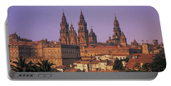 Cathedral In A Cityscape, Santiago De Portable Battery Charger