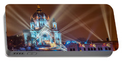 Cathedral Of St Paul Ready For Red Bull Crashed Ice Portable Battery Charger by Paul Freidlund