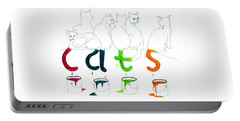 Cats With Paint Cans Portable Battery Charger