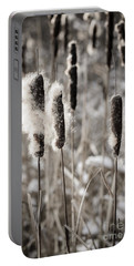 Cattails In Winter Portable Battery Charger
