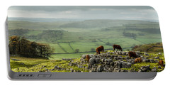 Cattle In The Yorkshire Dales Portable Battery Charger