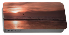 Cayucos Beach With Seagulls Portable Battery Charger