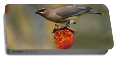 Portable Battery Charger featuring the photograph Cedar Waxwing by Doug Herr