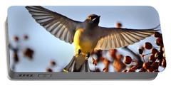 Cedar Waxwing Flight Portable Battery Charger