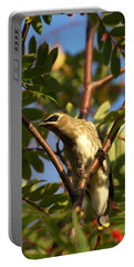 Portable Battery Charger featuring the photograph Cedar Waxwing by James Peterson
