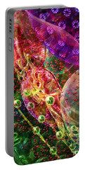 Portable Battery Charger featuring the digital art Cell Dreaming 8 by Russell Kightley
