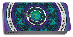 Celtic Butterfly Mandala Portable Battery Charger