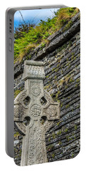 Celtic Cross At Kilmurry-ibrickan Church Portable Battery Charger