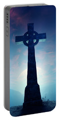 Celtic Cross With Moon Portable Battery Charger