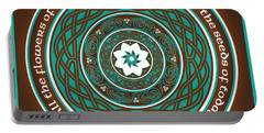 Celtic Lotus Mandala Portable Battery Charger