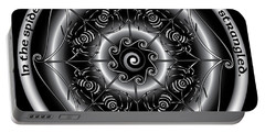 Celtic Spider Mandala Portable Battery Charger