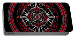 Celtic Vampire Bat Mandala Portable Battery Charger