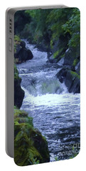 Portable Battery Charger featuring the photograph Cenarth Falls by John Williams