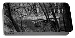 Central Park 2 Black And White Portable Battery Charger