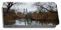 Central Park And San Remo Building In The Background Portable Battery Charger