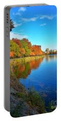 Central Park Autumn Landscape Portable Battery Charger