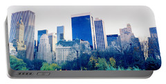 New York In Motion Portable Battery Charger by Shaun Higson