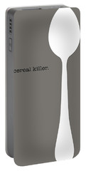 Portable Battery Charger featuring the digital art Cereal Killer by Nancy Ingersoll
