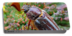 Chafer Beetle On Medusa Succulent 2 Portable Battery Charger