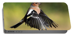 Chaffinch In Flight Portable Battery Charger