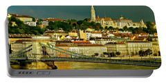 Portable Battery Charger featuring the photograph Chain Bridge Budapest by Ira Shander