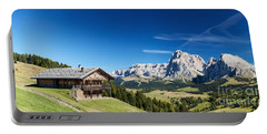 Portable Battery Charger featuring the photograph Chalet In South Tyrol by Carsten Reisinger