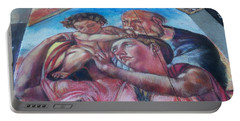 Chalk Painting By Street Artist Portable Battery Charger