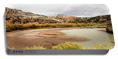 Portable Battery Charger featuring the photograph Chama River Swim Spot by Roselynne Broussard