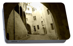 Portable Battery Charger featuring the photograph Chambery France Gate by Katie Wing Vigil